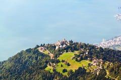 Vue aérienne de Rochers de Naye, Suisse Image stock