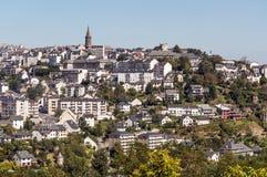 Vue aérienne de Rodez Image libre de droits