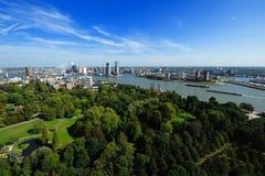 Vue aérienne de Rotterdam photographie stock