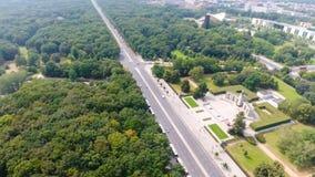 Vue aérienne de route d'horizon de Berlin depuis le 17 juin, Allemagne Images libres de droits
