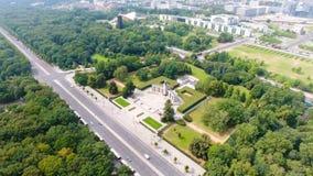 Vue aérienne de route d'horizon de Berlin depuis le 17 juin, Allemagne Photographie stock libre de droits