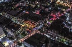 Vue aérienne de route de Punnawithi Photos libres de droits