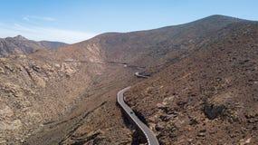Vue aérienne de route et de montagne volcanique photo libre de droits