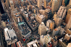 Vue aérienne de rue de New York City photos libres de droits