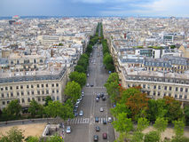Vue aérienne de rue de Paris, France Photographie stock