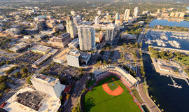 Vue aérienne de rue Peter photos stock