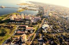 Vue aérienne de rue Peter Photo libre de droits