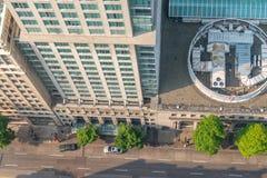 Vue aérienne aérienne de rue de ville image libre de droits