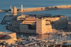 Vue aérienne de saint Jean de fort à Marseille photos stock