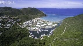 Vue aérienne de saint Martin Beach Photographie stock