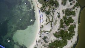 Vue aérienne de saint Martin Beach Image stock