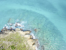 Vue aérienne de saint Martin Beaches Image stock