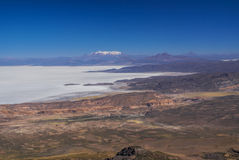 Vue aérienne de Salar de Uyuni Photos libres de droits