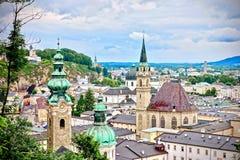 Vue aérienne de Salzbourg, Autriche photo stock