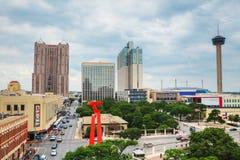 Vue aérienne de San Antonio Image libre de droits