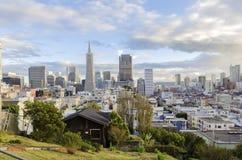 Vue aérienne de San Francisco du centre Images libres de droits