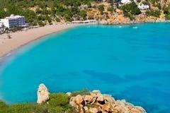 Vue aérienne de Sant Vicent en île d'Ibiza Images libres de droits