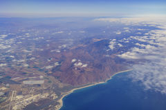 Vue aérienne de Santa Monica Mountain Images libres de droits