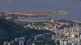Vue aérienne de Santos Dumont Airport Image stock