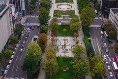 Vue aérienne de Sapporo, Japon Photos stock