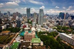 Vue aérienne de secteur de Roppongi de Minato de tour de Tokyo, Tok Images libres de droits