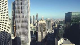 Vue aérienne de secteur financier banque de vidéos