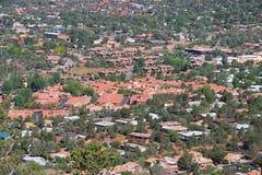 Vue aérienne de Sedona Images stock
