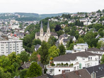 Vue aérienne de Siegen, ville en Allemagne photos libres de droits