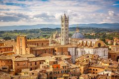 Vue aérienne de Sienne Image stock