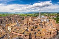 Vue aérienne de Sienne photographie stock