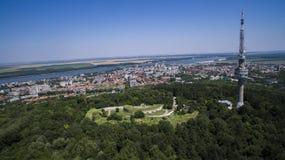 Vue aérienne de Silistra, Bulgarie image stock