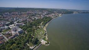Vue aérienne de Silistra, Bulgarie photos stock