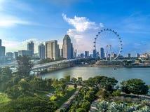 Vue aérienne de Singapour Photographie stock libre de droits