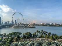 Vue aérienne de Singapour Image stock