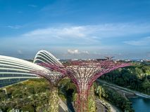 Vue aérienne de Singapour Photographie stock