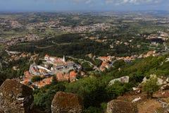 Vue aérienne de Sintra, Portugal Photographie stock