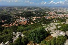 Vue aérienne de Sintra, Portugal Photos libres de droits