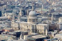 Vue aérienne de St Paul Cathedral, Images stock