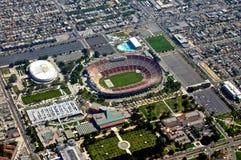 Vue aérienne de stade Photos stock