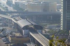 Vue aérienne de station de métro d'aéroport international de Macao Photos stock
