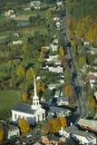 Vue aérienne de Stowe, Vermontn photos stock