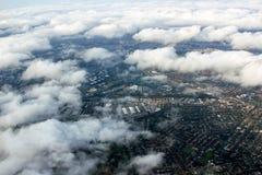 Vue aérienne de Sydney, Australie, photo prise juste avant le landin Photographie stock libre de droits