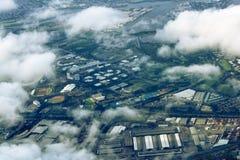 Vue aérienne de Sydney, Australie, photo prise juste avant le landin Photos libres de droits