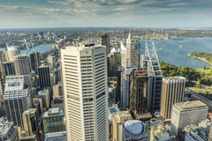 Vue aérienne de Sydney Tower en Sydney Australia Photos libres de droits