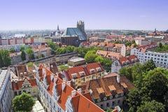 Vue aérienne de Szczecin Image libre de droits