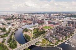 Vue aérienne de Tampere photos libres de droits