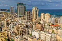 Vue aérienne de Tel Aviv Photo stock