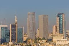 Vue aérienne de Tel Aviv Images libres de droits