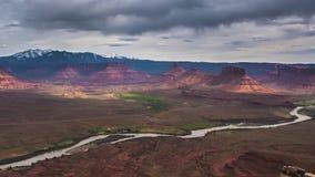 Vue aérienne de Temps-faute de professeur Valley de l'Utah clips vidéos
