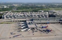 Vue aérienne de terminal d'aéroport de Fort Lauderdale Photos libres de droits